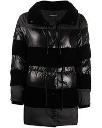 Emporio Armani Куртка На Молнии Со Вставками - Черный