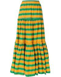 LaDoubleJ Long striped skirt - Vert