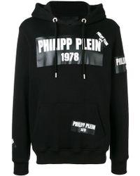 Philipp Plein - Kapuzenpullover mit Logo-Patches - Lyst