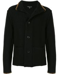 James Perse Front Button Cardigan - Black