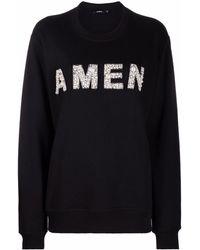 Amen Logo-patch Jumper - Black