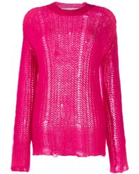 Golden Goose Deluxe Brand Джемпер С Круглым Вырезом - Розовый