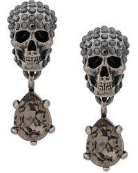 Alexander McQueen Серьги С Декором Skull - Металлик