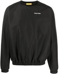 Pyer Moss ロゴ スウェットシャツ - ブラック