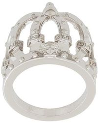 Versace - Crown Shaped Finger Ring - Lyst
