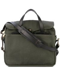 Filson - Original Leather-trimmed Twill Briefcase - Lyst