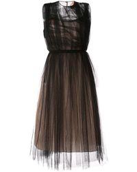 N°21 - Платье Из Тюля С Оборками - Lyst