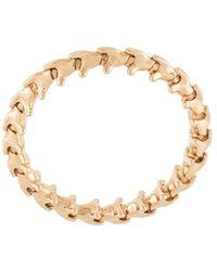 Shaun Leane 18 Kt Rose Goud Serpents Trace Ring - Geel