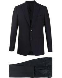 Dell'Oglio Tailored Three-piece Suit - Blue