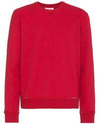 Valentino   Rockstud Crewneck Sweater   Lyst