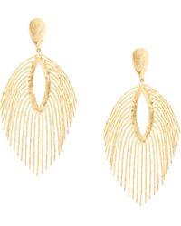 Natori Fringed Clip-on Earrings - Metallic