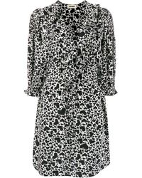 Zadig & Voltaire Roni Heart Print Dress - Black
