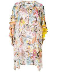 Tsumori Chisato - Contrast Print Asymmetric Dress - Lyst