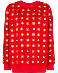 Ashish Mirror Embroide Sweatshirt - Red