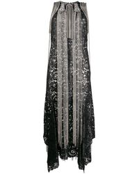 Christopher Kane Coated Lace Chain Dress - Black