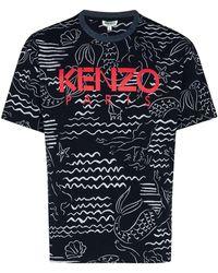 KENZO - Mermaids プリント Tシャツ - Lyst