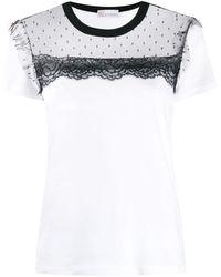 RED Valentino - チュールパネル Tシャツ - Lyst