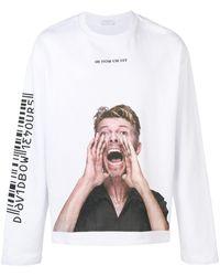 ih nom uh nit Bowie Scream スウェットシャツ - ホワイト