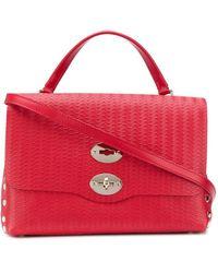 Zanellato Postina M Embossed Tote Bag - Red