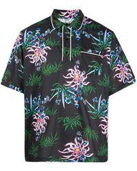 KENZO Sea Lily ポロシャツ - ブラック