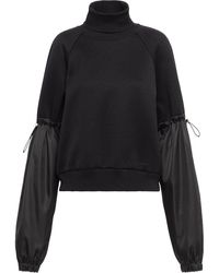 Prada Technical Cotton Sweatshirt - Black