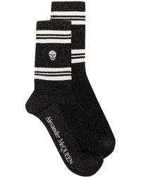 Alexander McQueen スカル 靴下 - ブラック