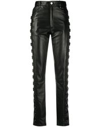 Manokhi High-waisted Buckled Trousers - Black