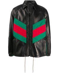 Gucci ウェブパネル ジャケット - ブラック