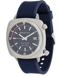 Briston Clubmaster Diver Brushed Horloge - Blauw