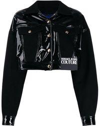 Versace Jeans Couture Shine Crop Jacket Black