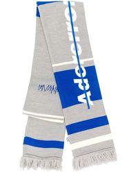 ADER error Schal mit Logo-Stickerei - Grau