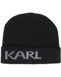 Karl Lagerfeld Karl ビーニー - ブラック