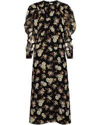 Victoria Beckham フローラル ドレス - ブラック