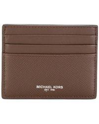 Michael Kors - Logo Stamp Cardholder - Lyst