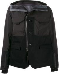 The Viridi-anne Panelled Hooded Jacket - Black