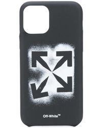 Off-White c/o Virgil Abloh Funda Stencil Arrows para iPhone 11 Pro - Negro