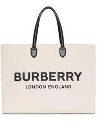 Burberry Draagtas Met Logo Detail - Naturel