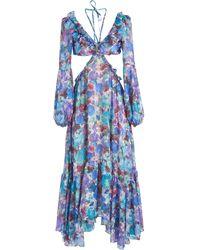 PATBO Blossom カットアウト ドレス - パープル