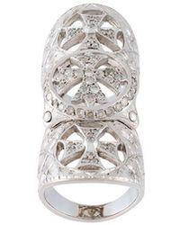 Loree Rodkin - Diamond Cross Long Ring - Lyst