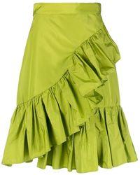 MSGM ラッフル スカート - グリーン