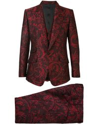 Dolce & Gabbana Dreiteiliger Jacquardanzug - Rot