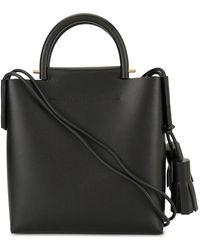 Building Block Tassel Business Bag - Black