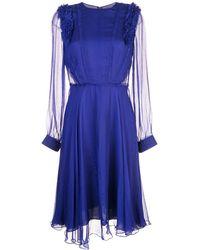 Jason Wu ラッフル ドレス - ブルー