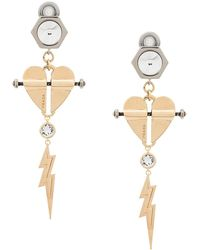 Prada - Heart And Lightning Earrings - Lyst