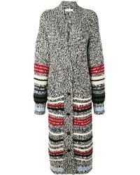 Sonia Rykiel Long Chunky Cardigan - Gray