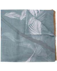 Yigal Azrouël 'Peony' Schal mit Print - Blau