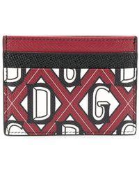Dolce & Gabbana Картхолдер С Логотипом - Красный