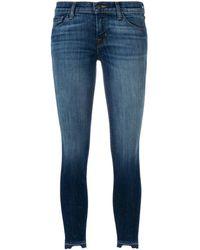 J Brand Faded detail skinny jeans - Bleu