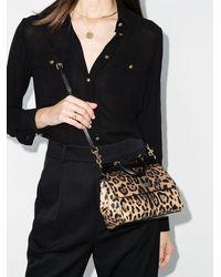 Dolce & Gabbana - Маленькая Сумка-тоут Sicily С Леопардовым Принтом - Lyst