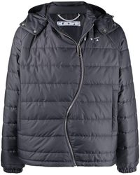 Off-White c/o Virgil Abloh Twist-zip Logo Puffer Jacket - Gray
